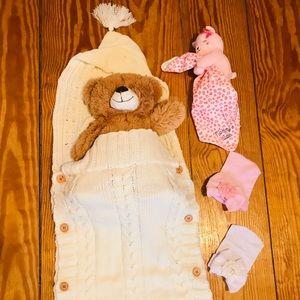 Other - Crochet Cotton Sleeping Bag Beige 🐻🍼 (Unisex)